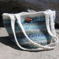 Felted Crochet Beach Bag