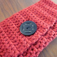 Crochet Button Clutch