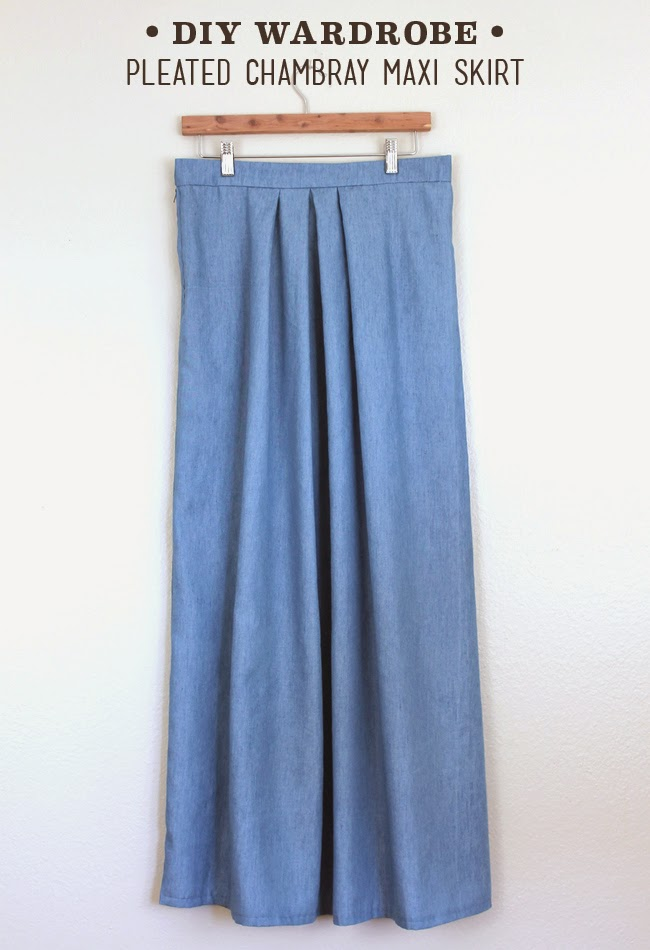DIY Pleated Chambray Maxi Skirt — Sew DIY