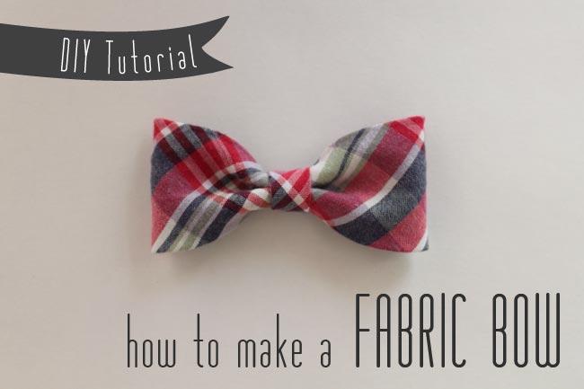 Diy Fabric Bow Tutorial Sew Diy