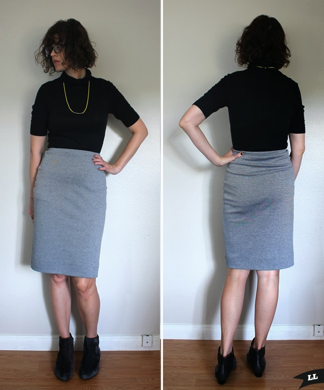 Grey Knit Skirt — Sew DIY