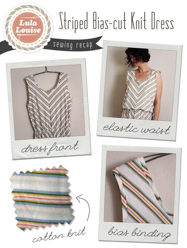 Striped Bias-cut Knit Maxi Dress — Sew DIY