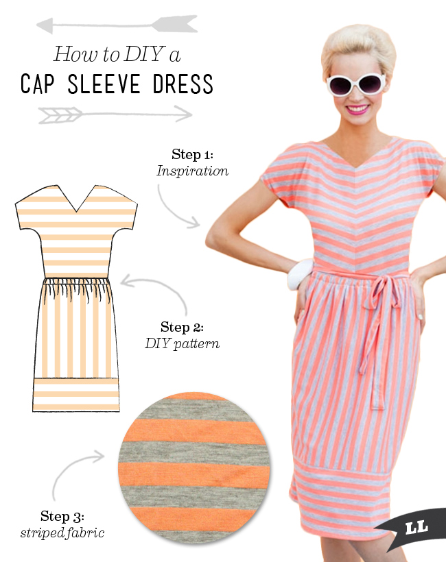 How to DIY a Striped Cap Sleeve Dress — Sew DIY
