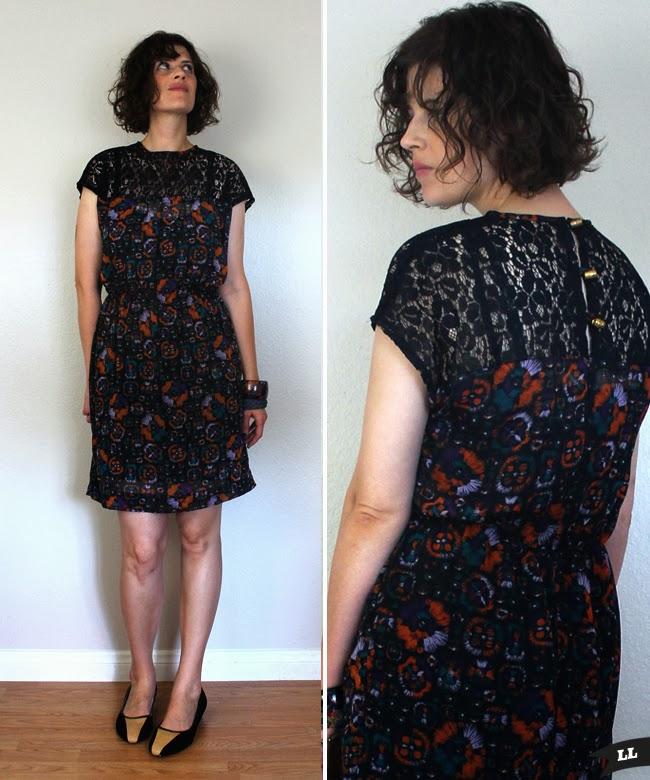 Fall Sewing No 1 Lace Top Dress Sew Diy