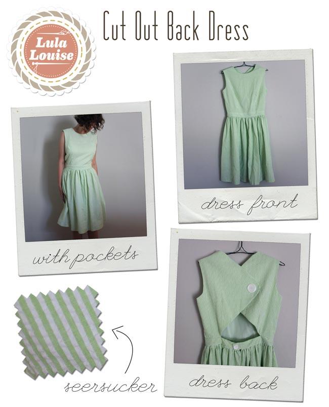 Cut Out Back Seersucker Dress — Sew DIY