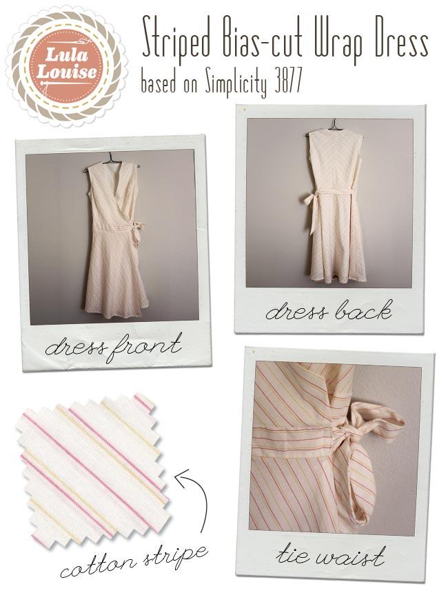 Striped Bias-cut Wrap Dress — Sew DIY