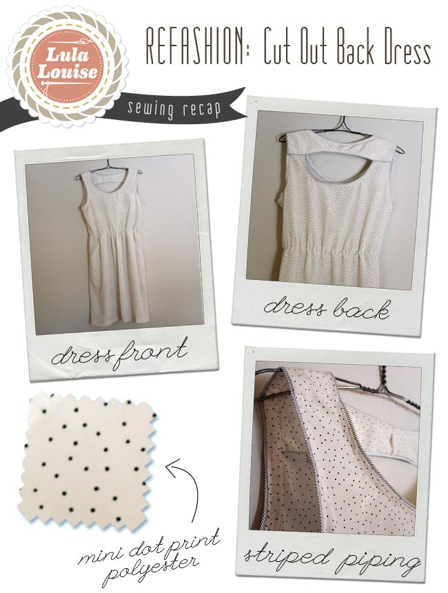 Refashion – Wrap Dress to Cut Out Back — Sew DIY