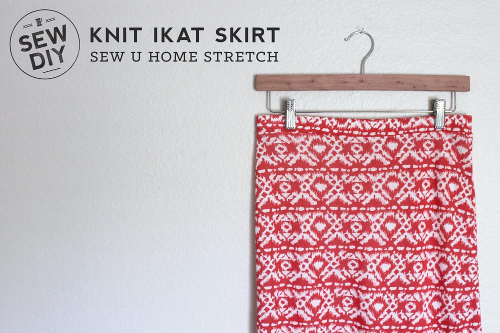Diy Red Ikat Knit Skirt Sew Diy