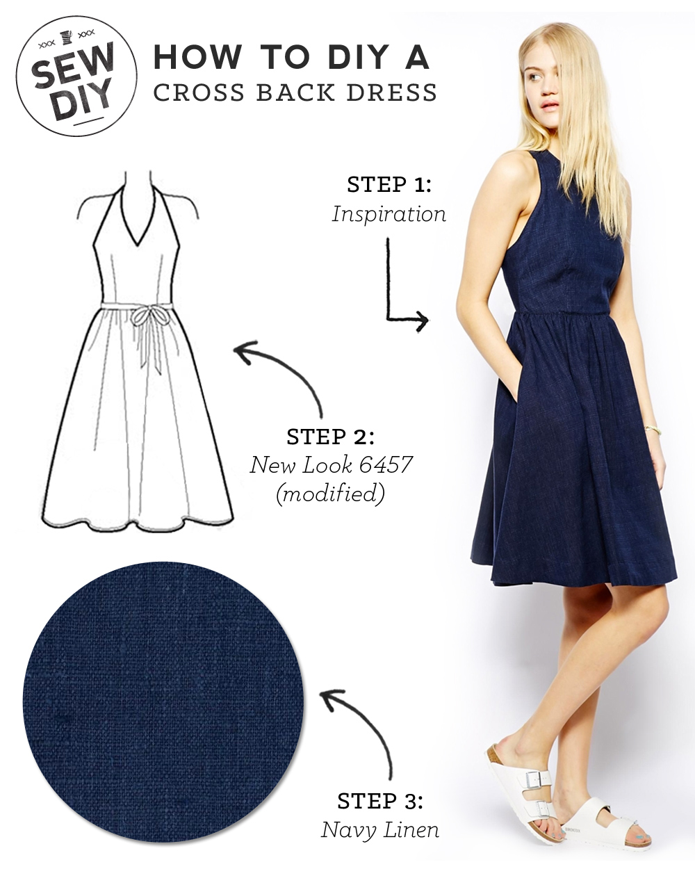 DIY Outfit - Cross Back Dress — Sew DIY