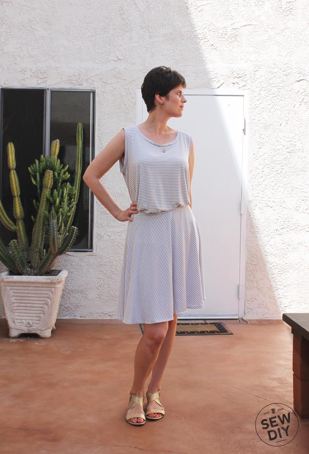 Diy Striped Knit Circle Skirt Sew Diy