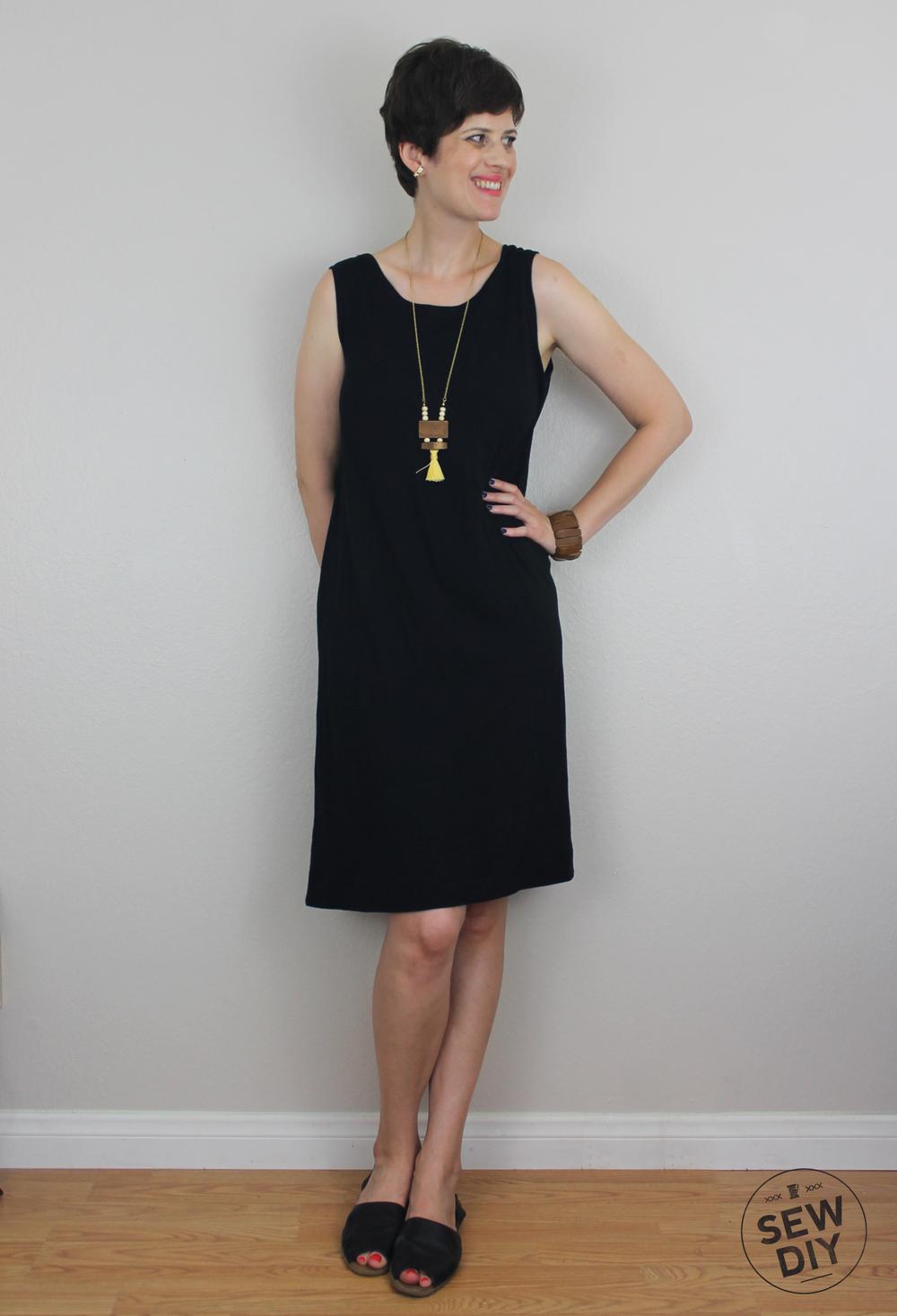 DIY Low Back Knit Dress — Sew DIY