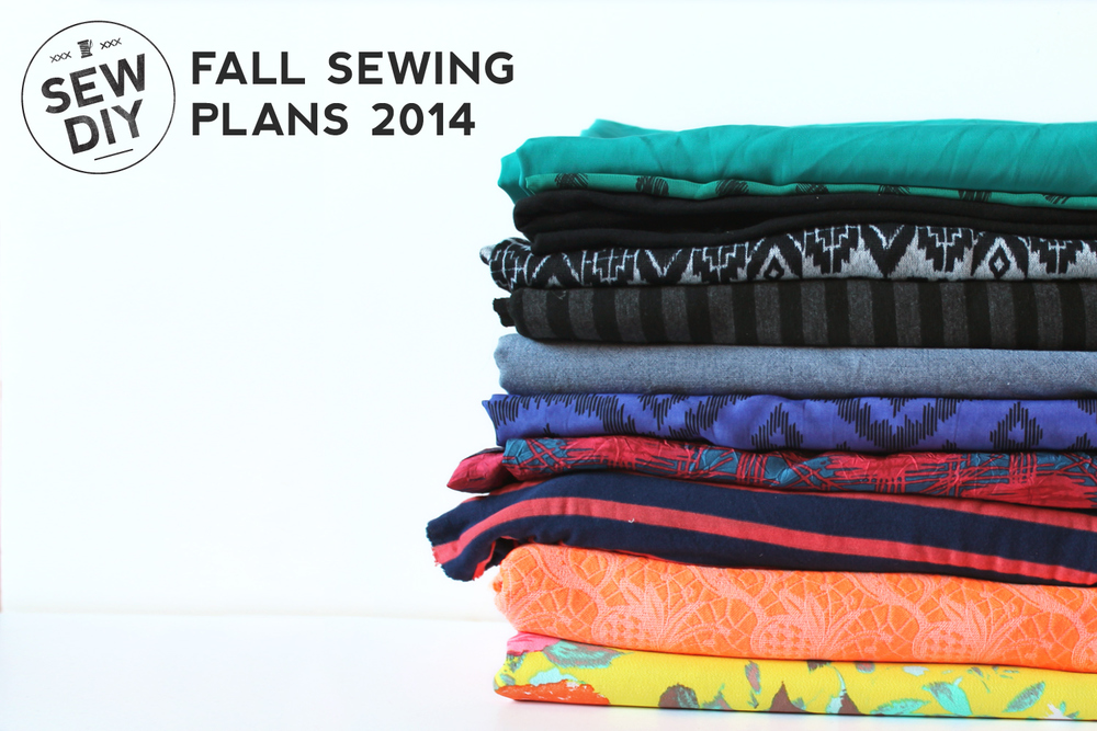 Fall Sewing Plans 2014