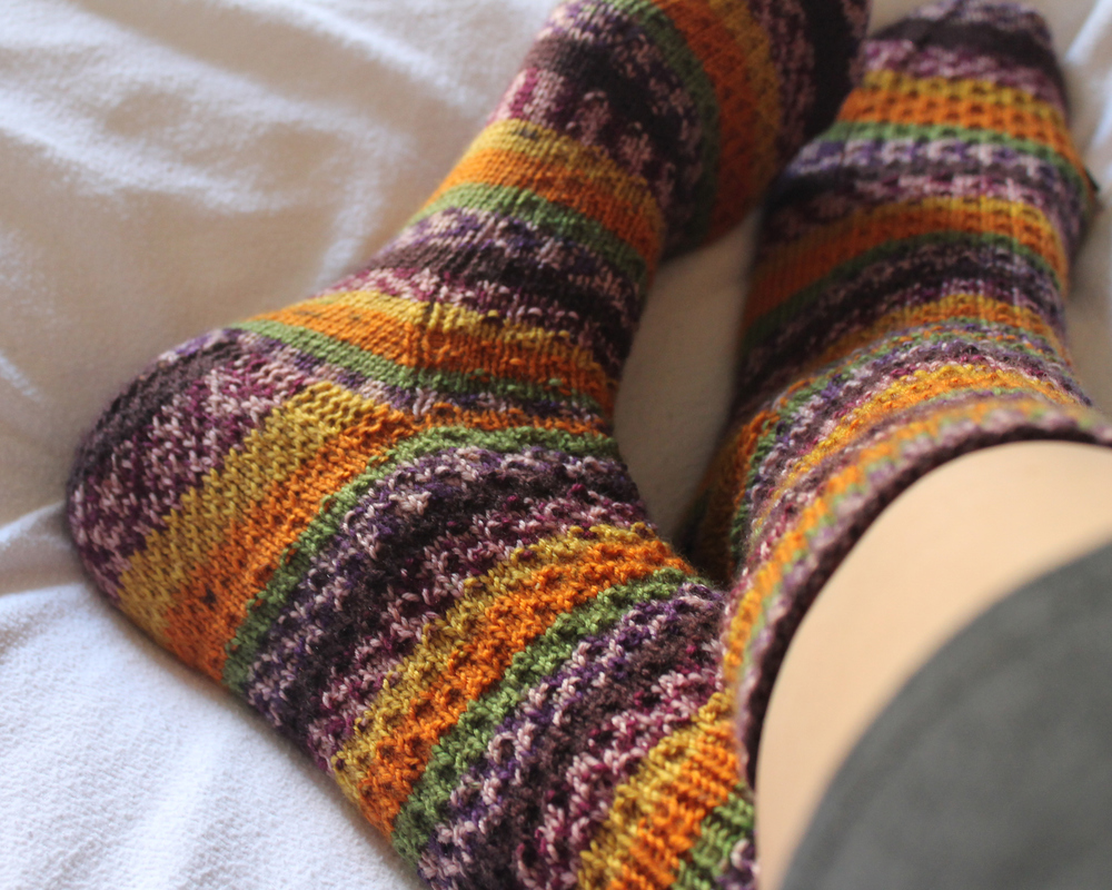 Sew DIY - Self Striped Hermione Socks