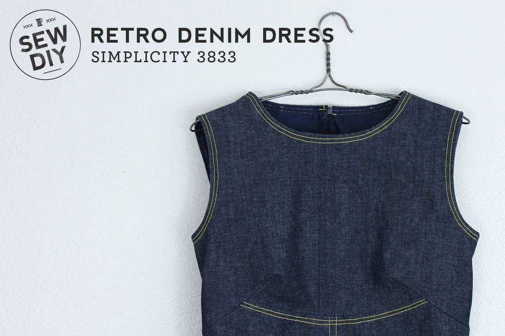 DIY Retro Denim Dress – Simplicity 3833 — Sew DIY
