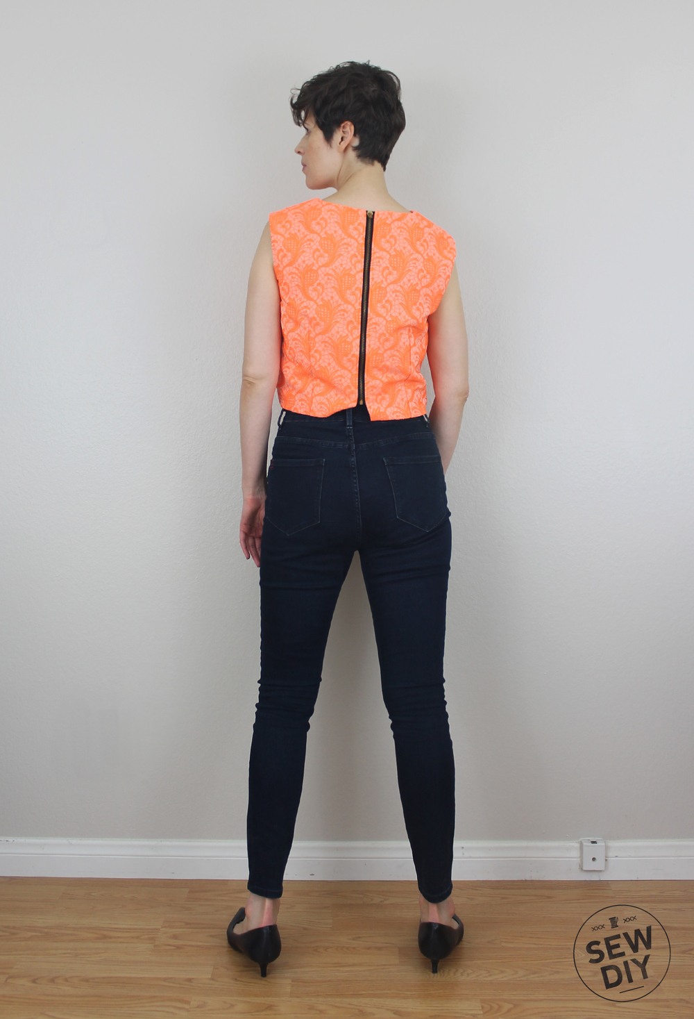 Sew DIY Brocade Crop Top Back