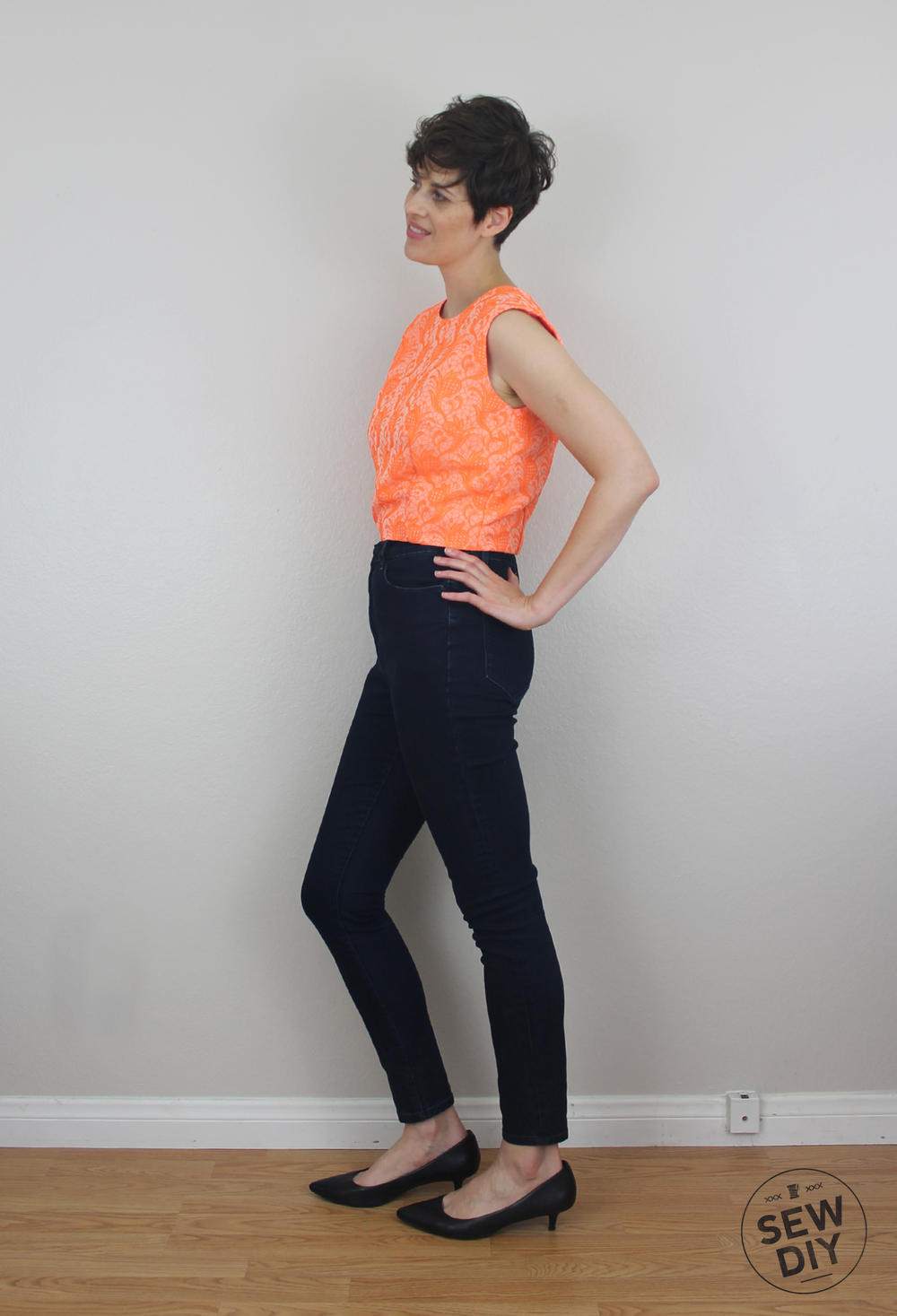 Sew DIY Brocade Crop Top Side