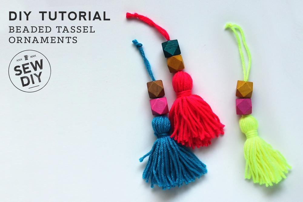 Diy Tutorial Beaded Tassel Ornaments Sew Diy