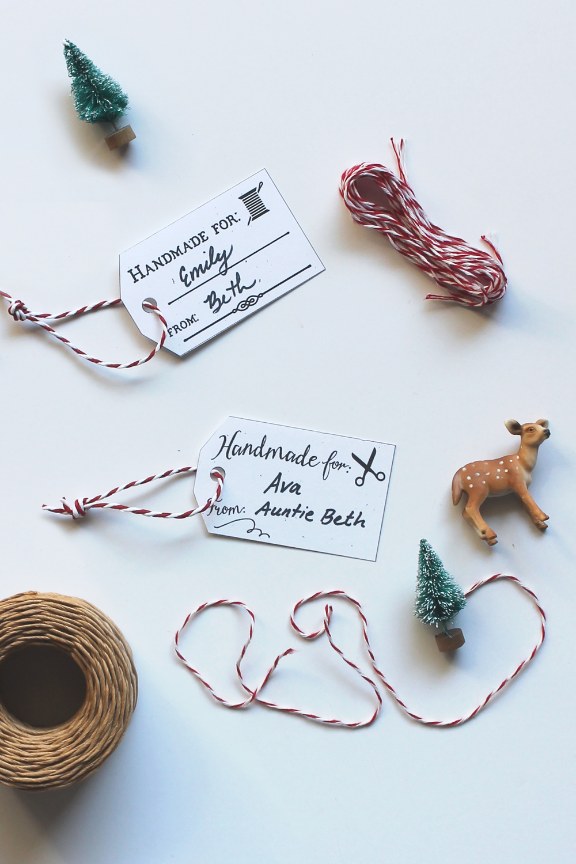 Free Printable Hang Tags for Handmade Christmas Gifts –Sew DIY