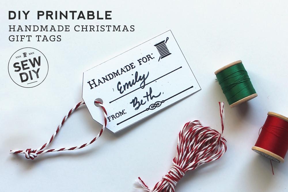 free printable hang tags for handmade christmas gifts sew diy - Christmas Tags Handmade