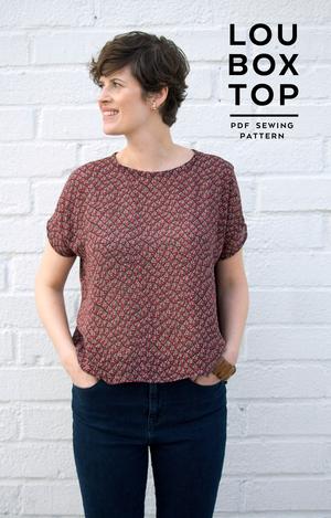 Lou Box Top Pdf Pattern Sew Diy