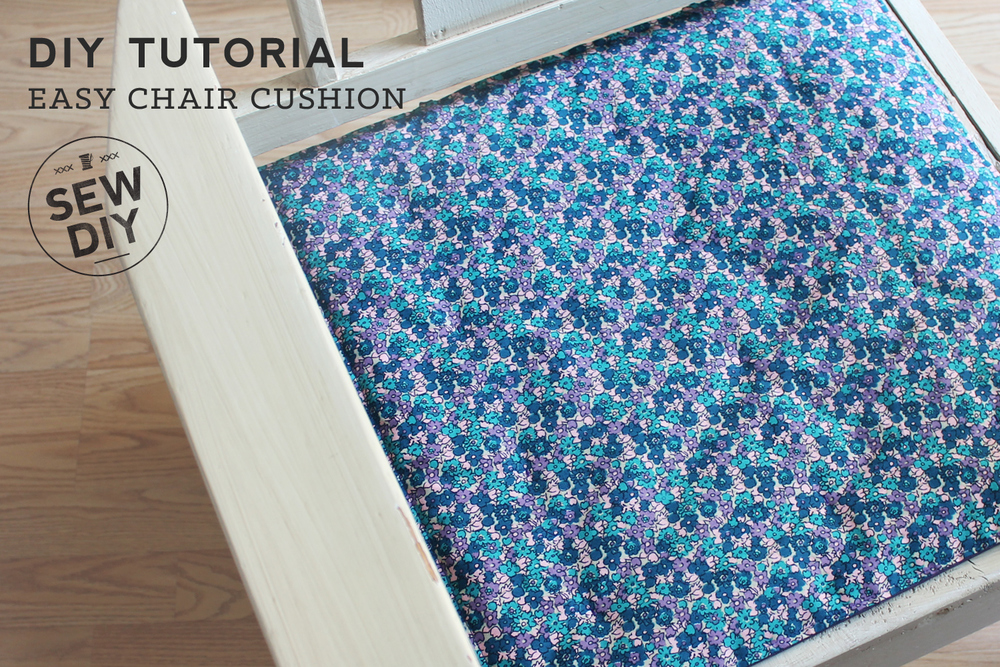 DIY Tutorial – Simple Chair Cushion – Sew DIY