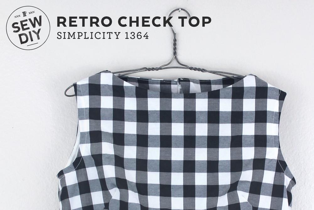 Retro Check Top Simplicity 1364 Sew Diy