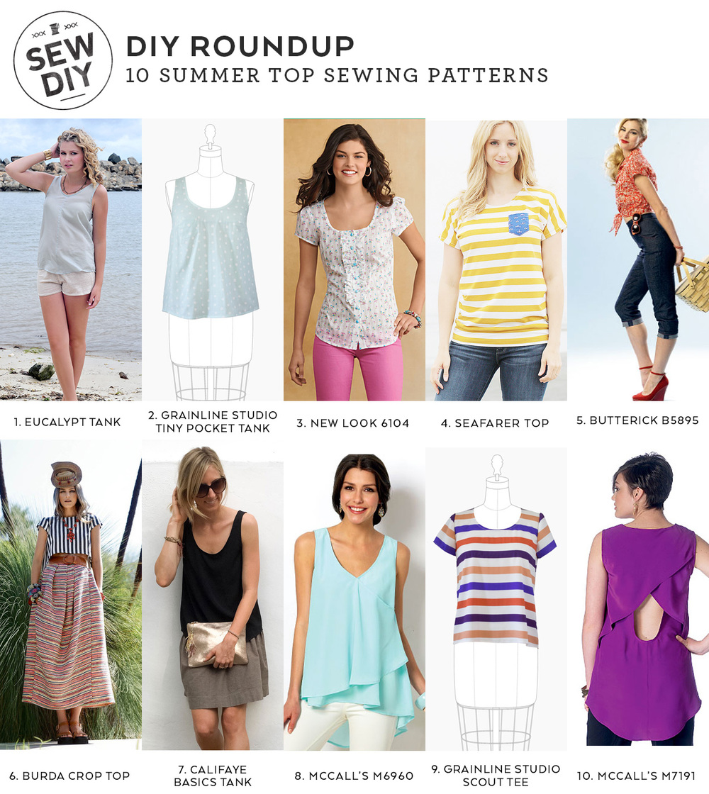DIY Roundup – 10 Summer Top Sewing Patterns — Sew DIY