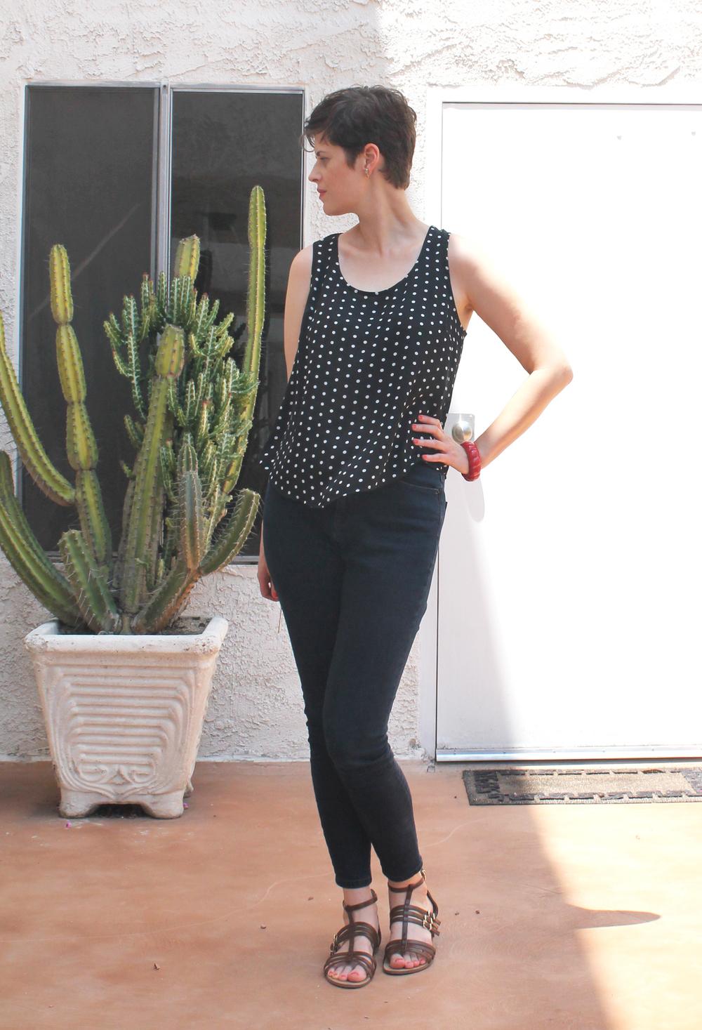 DIY Polka Dot Tank | Sew DIY
