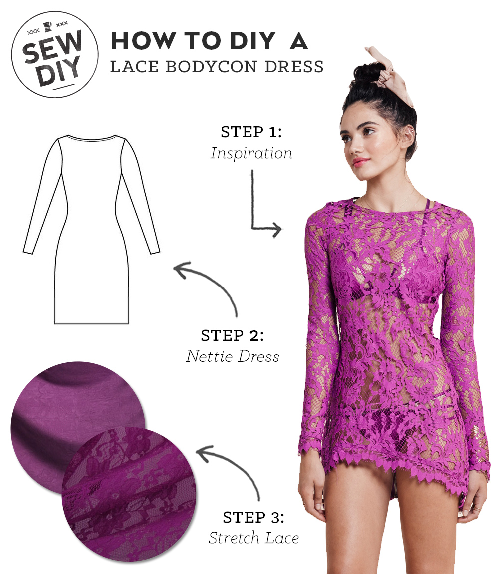 DIY Outfit – Lace Bodycon Dress — Sew DIY