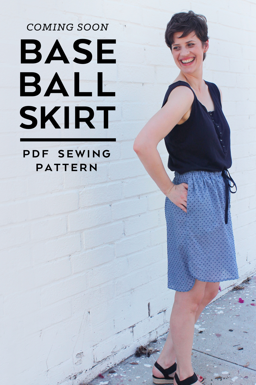 Baseball Skirt Sewing Pattern Sneak Peek | Sew DIY