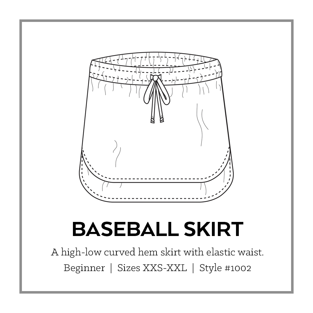 Baseball Skirt PDF Pattern | Sew DIY