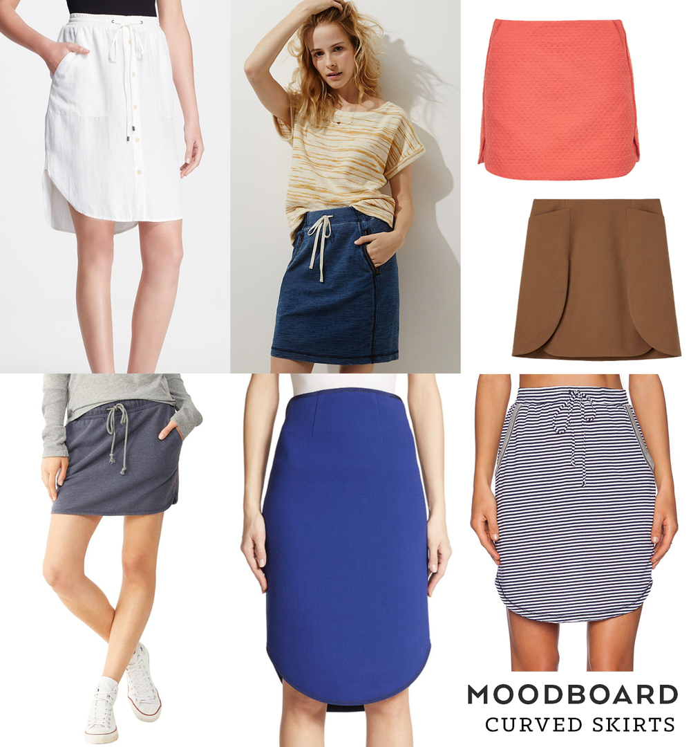 Moodboard – Curved Skirts