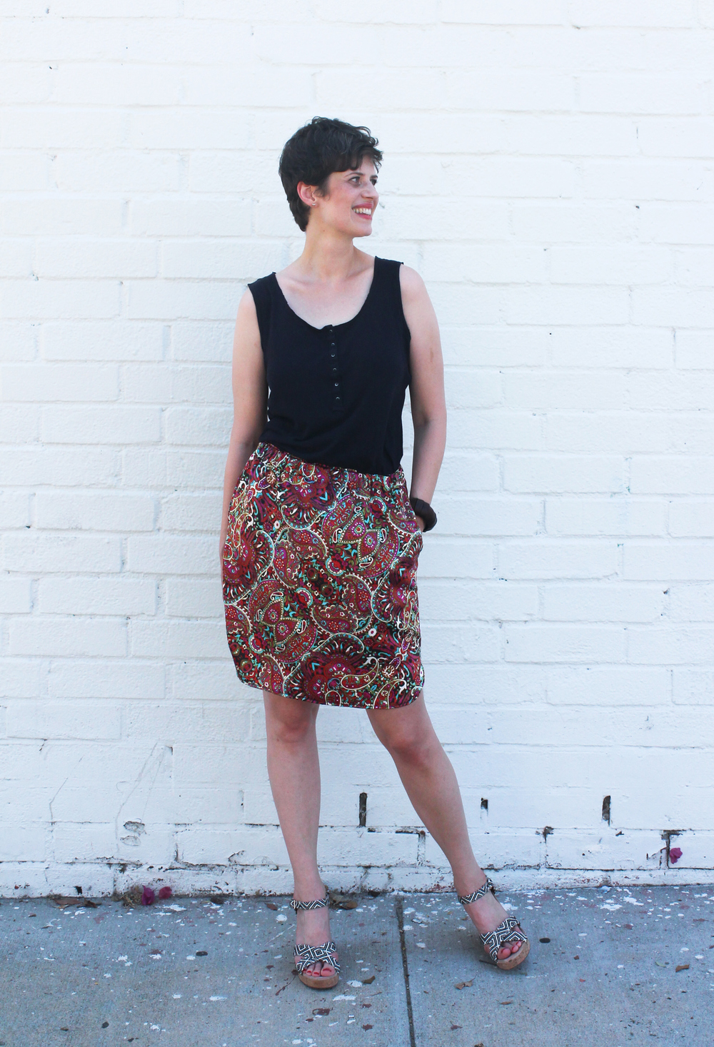 DIY Paisley Baseball Skirt | Sew DIY