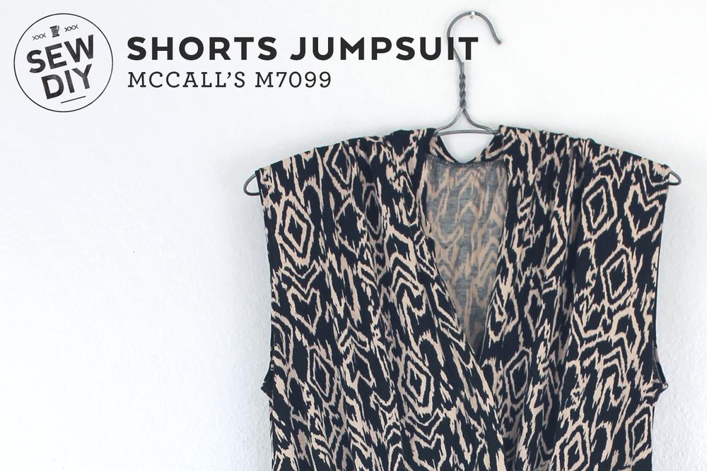 DIY Knit Shorts Jumpsuit — Sew DIY