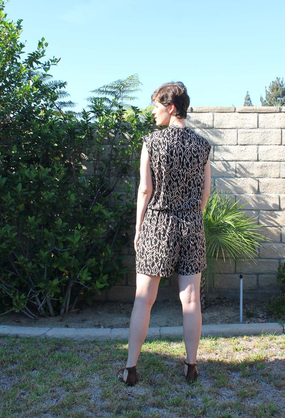 DIY Knit Shorts Jumpsuit McCall's M7099 | Sew DIY