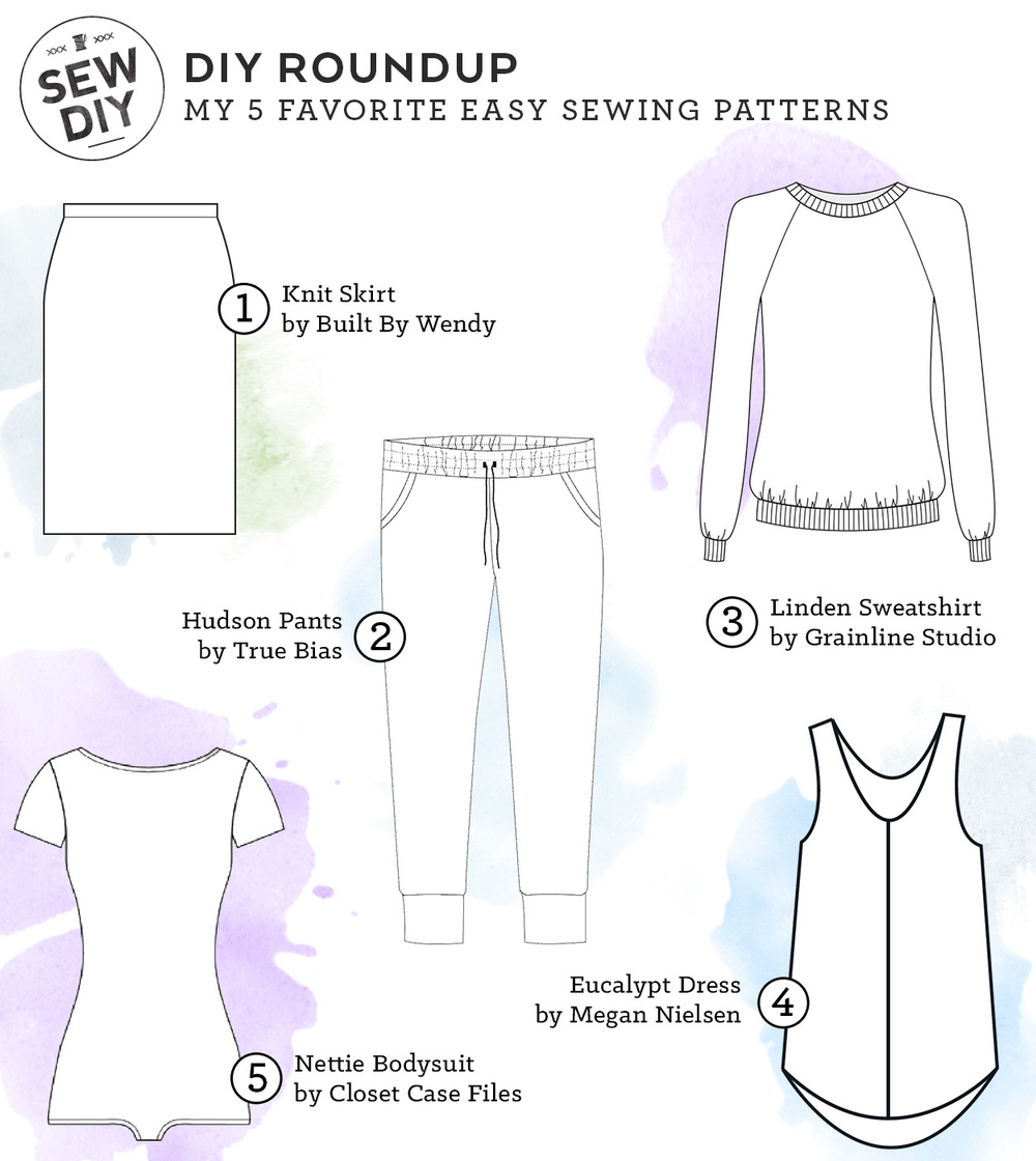 My 5 favorite easy sewing patterns sew diy top 5 easy sewing patterns sew diy jeuxipadfo Gallery