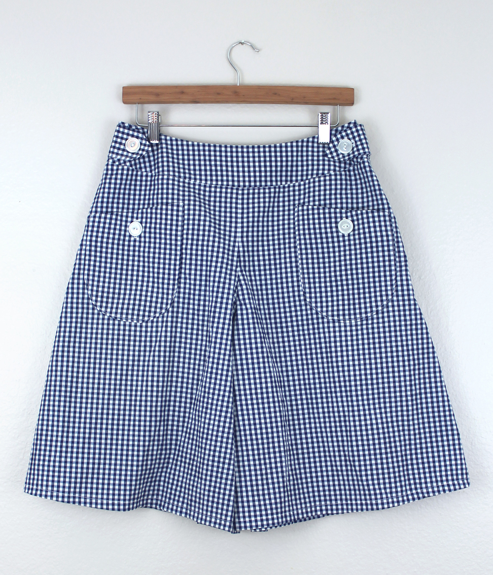 DIY Gingham Emily Culottes Front | Sew DIY