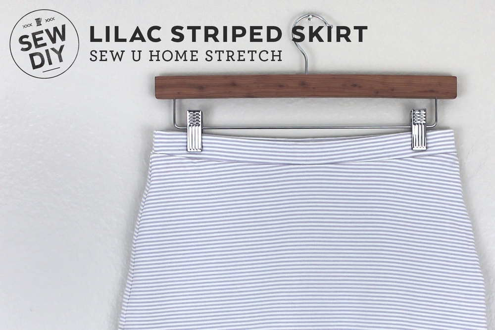 DIY Lilac Striped Knit Skirt | Sew DIY
