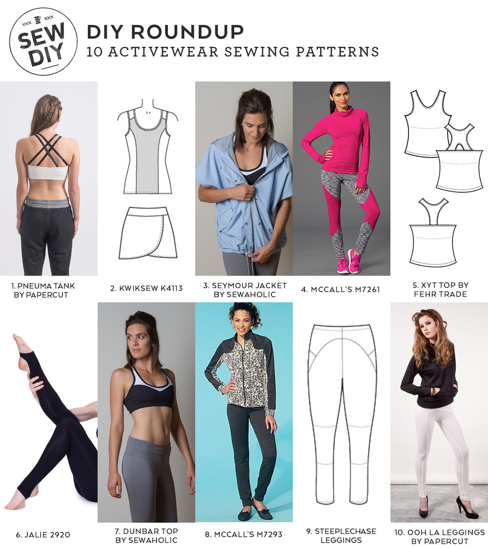 10 activewear sewing patterns diy roundup sew diy 10 activewear sewing patterns sew diy jeuxipadfo Image collections