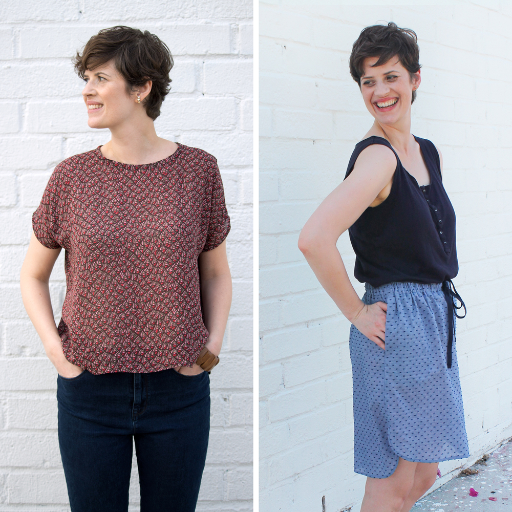 The Beginner's Bundle. Two PDF sewing patterns designed for beginning sewers. Start building your handmade wardrobe today.