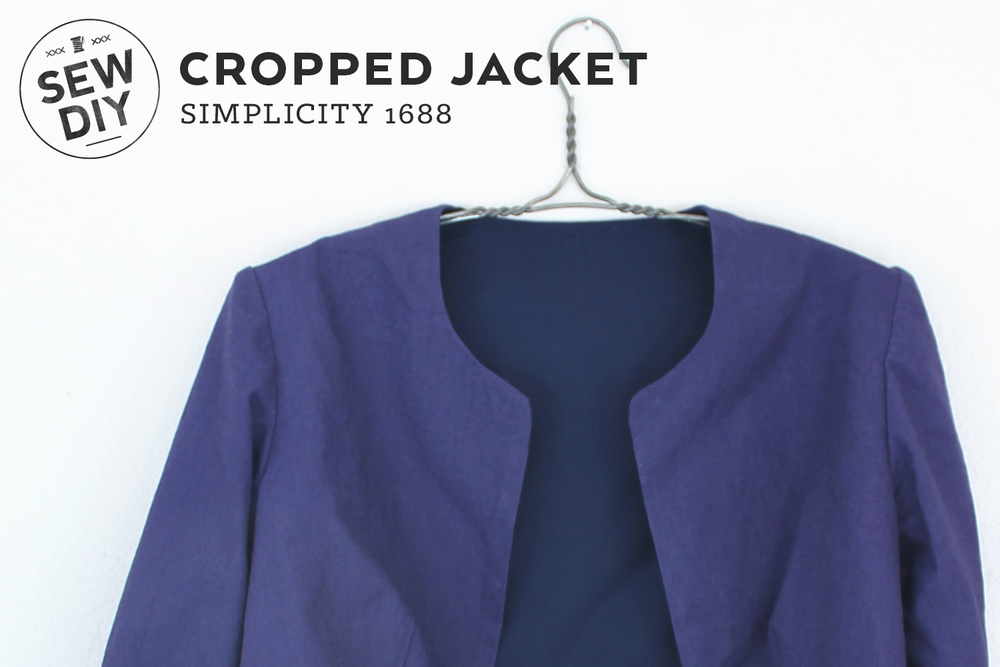 DIY Cropped Jacket Simplicity 1688 | Sew DIY