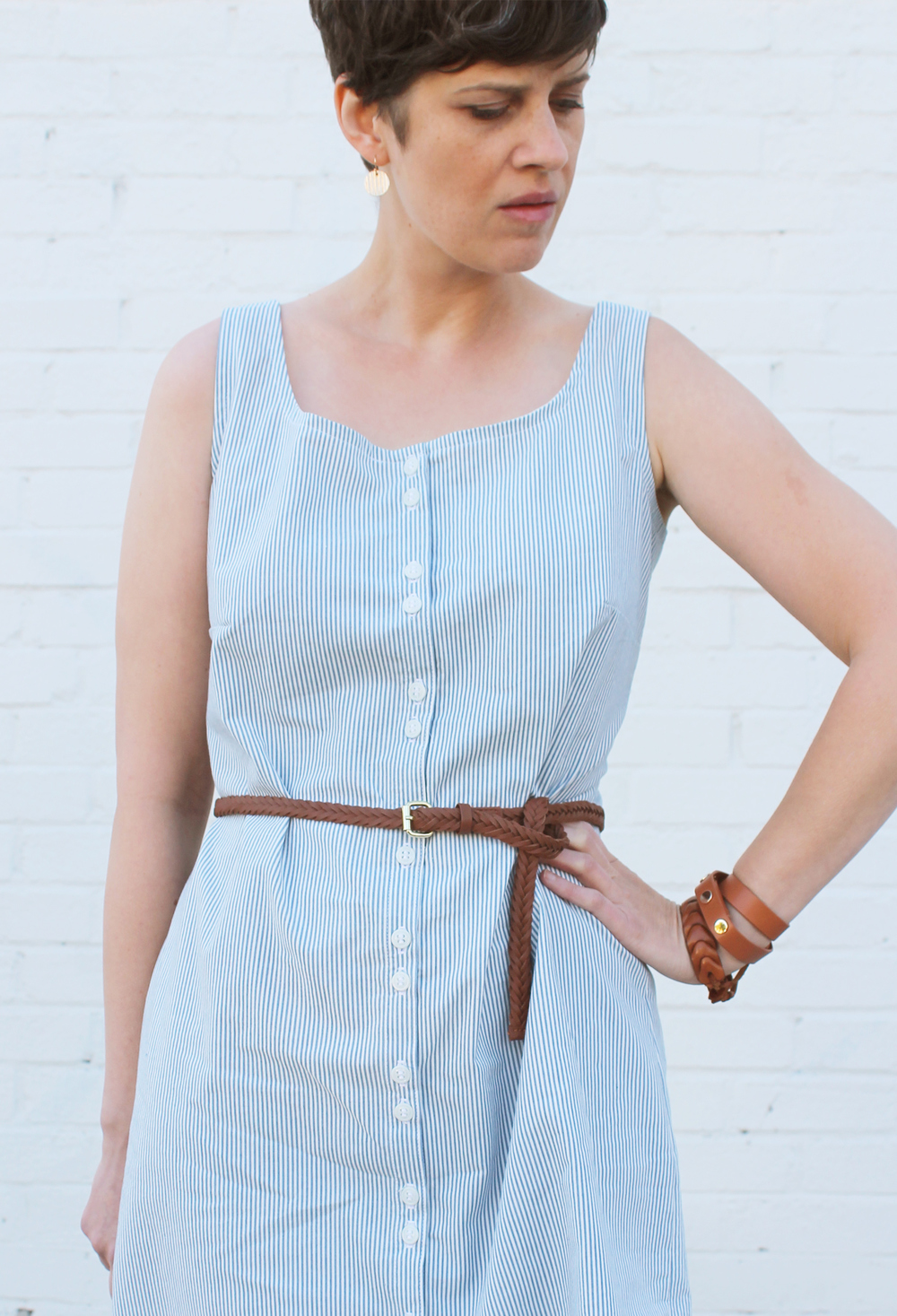 DIY Sleeveless Shirtdress | Sew DIY