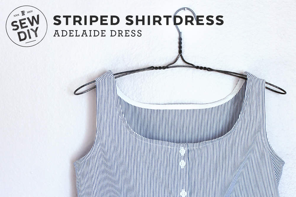 DIY Striped Shirtdress | Sew DIY