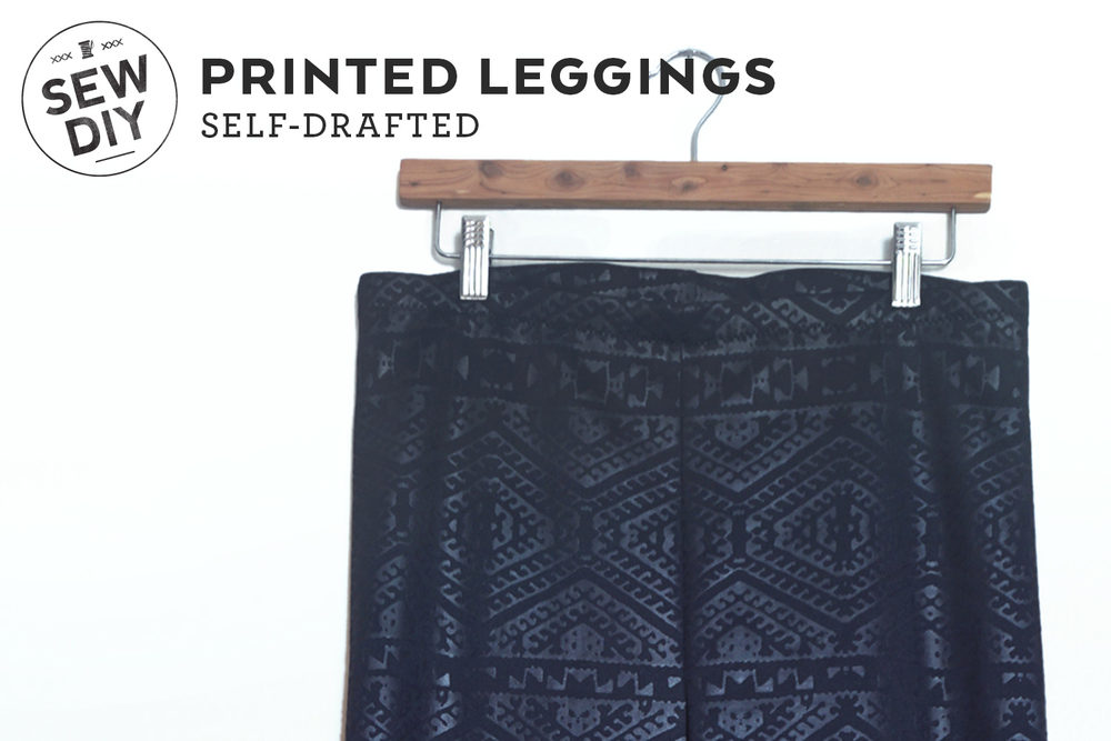 DIY Printed Leggings | Sew DIY