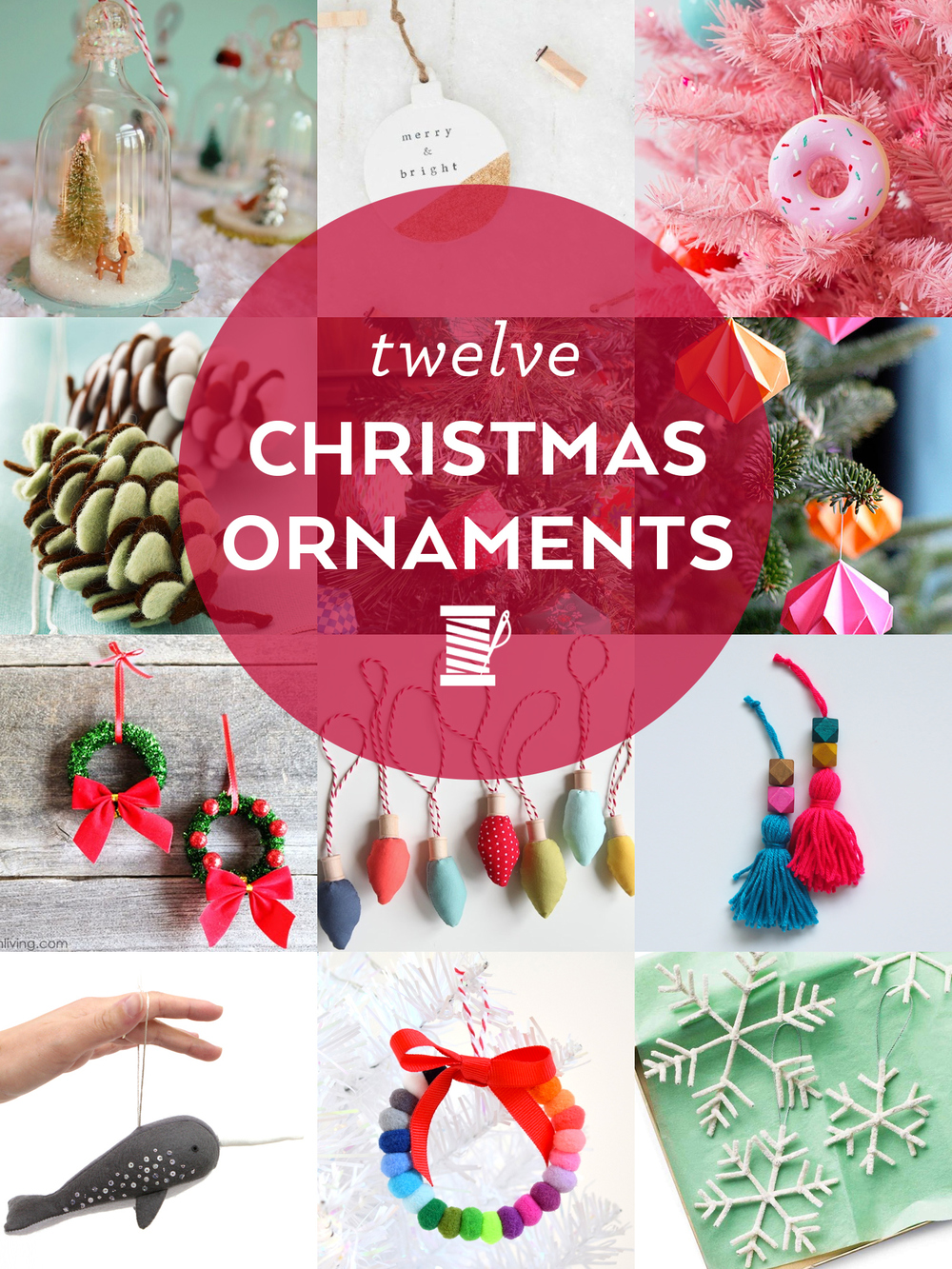 12 DIY Christmas Ornaments to Make This Weekend | Sew DIY