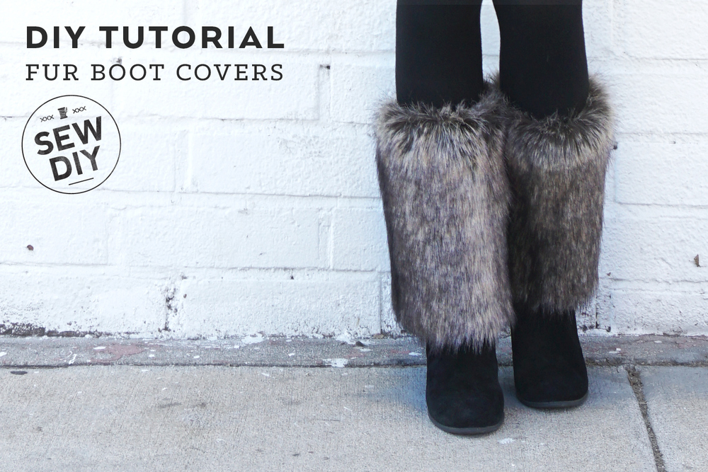 DIY Tutorial – How to Sew Fur Bott Covers | Sew DIY