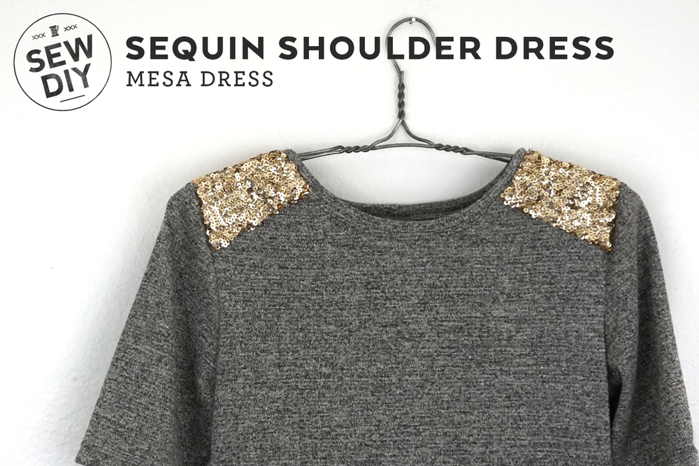 DIY Sequin Shoulder Mesa Dress | Sew DIY