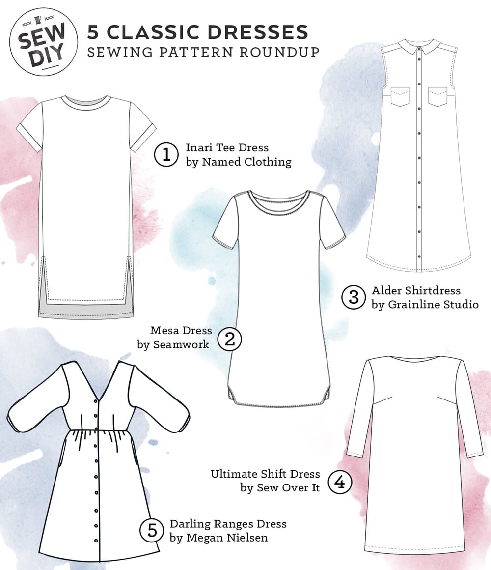 5 Classic Dresses – Sewing Pattern Roundup | Sew DIY