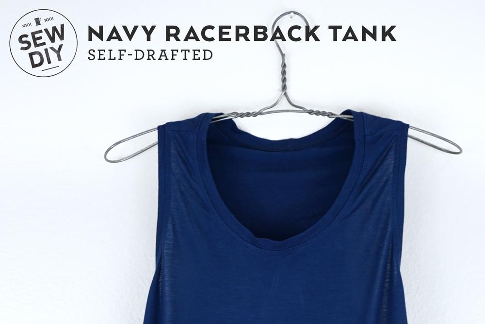 DIY Navy Racerback Tank | Sew DIY