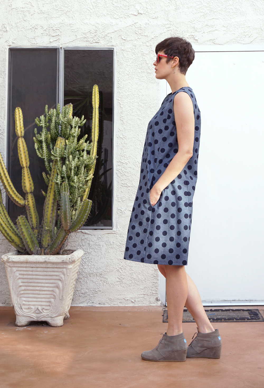 DIY Polka Dot Rushcutter Dress